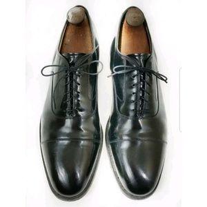 Johnston Murphy oxford black dress shoes size 11D